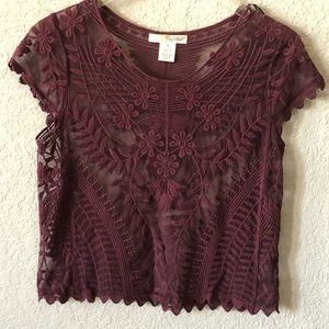 Say What? Brand lace top